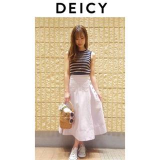 デイシー(deicy)の新品♡DEICY♡鍵編みトップス(カットソー(半袖/袖なし))