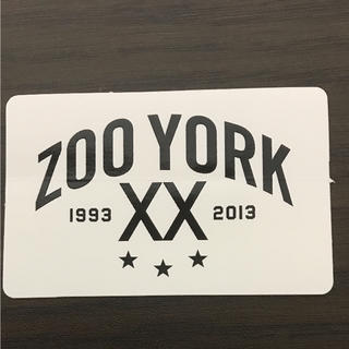 ズーヨーク(ZOO YORK)の【縦4.6cm横7.3cm】ZOO YORK ステッカー(ステッカー)