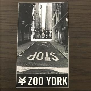 ズーヨーク(ZOO YORK)の【縦12cm横7cm】ZOO YORKステッカー(ステッカー)