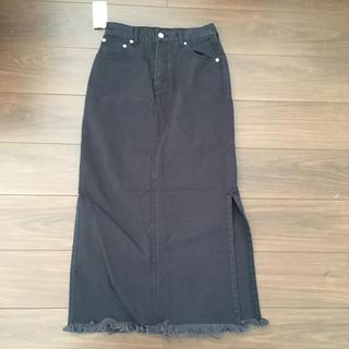 エックスガール(X-girl)のX- girl side slit skirt(ロングスカート)