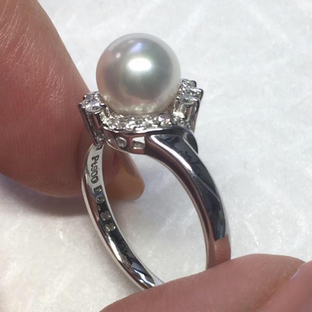 POLA(ポーラ)のPOLA パール ダイヤモンド リング レディースのアクセサリー(リング(指輪))の商品写真