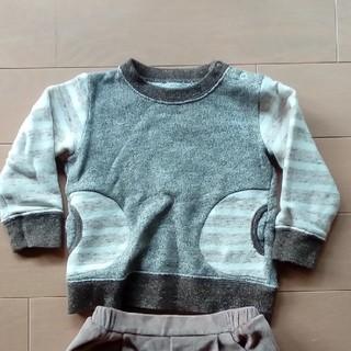 エーキャンビー(A CAN B)のAcanBとパタシュー 上下セット 90cm トレーナー(Tシャツ/カットソー)