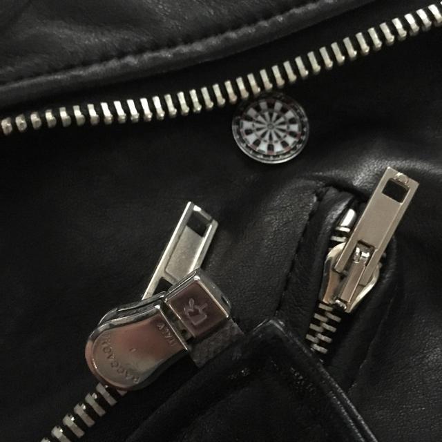 S'exprimer(セクスプリメ)のバッチ付 セクスプリメ レザーライダース ジャケット sexprimer メンズのジャケット/アウター(ライダースジャケット)の商品写真