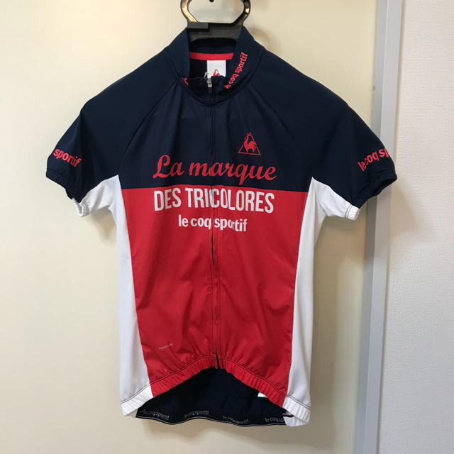 03ed3b79f55970 le coq sportif(ルコックスポルティフ)のルコック サイクルジャージ ネイビー ピンク レディース スポーツ/