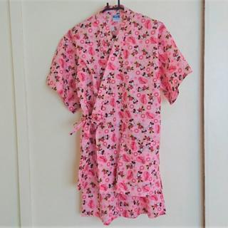 ディズニー(Disney)の甚平☆ミニー☆ピンク☆フリーサイズ(浴衣)