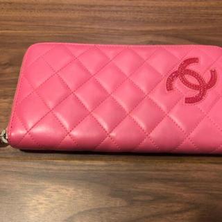 シャネル(CHANEL)の新品同様♥シャネル♥ラウンドジップ長財布♥ピンク(財布)