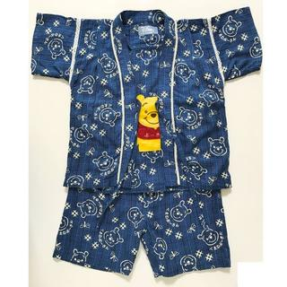 ディズニー(Disney)の値下げ☆【未使用】95cmくまのプーさん和柄甚平3点セット(甚平/浴衣)