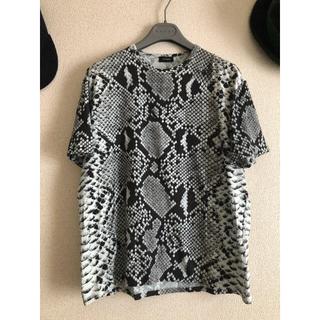 ジルサンダー(Jil Sander)のジルサンダー   パイソン柄Tシャツ(Tシャツ/カットソー(半袖/袖なし))
