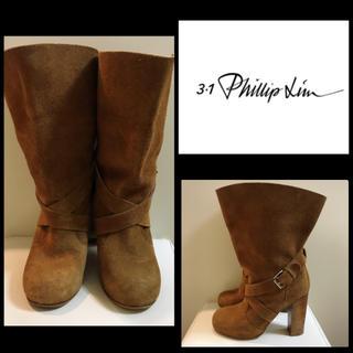 スリーワンフィリップリム(3.1 Phillip Lim)の3.1フィリップリム♡ダークブラウンスエード ベルトブーツ♡(ブーツ)