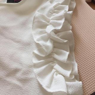シマムラ(しまむら)の可愛い♡袖フリルトップス(カットソー(半袖/袖なし))