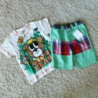 リトルベアークラブ(LITTLE BEAR CLUB)の新品上下セットサイズ100(Tシャツ/カットソー)