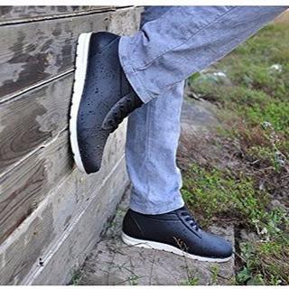 26cm★スニーカーみたいなレインシューズ 防水 黒(長靴/レインシューズ)