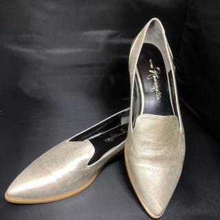 ギンザカネマツ(GINZA Kanematsu)の銀座かねまつ ローヒール ゴールド❤(ローファー/革靴)
