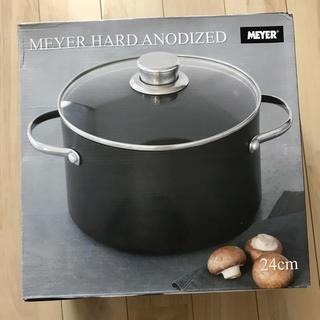 マイヤー(MEYER)のMEYER ハードアナダイズド 両手鍋 24cm 新品 マイヤー(鍋/フライパン)