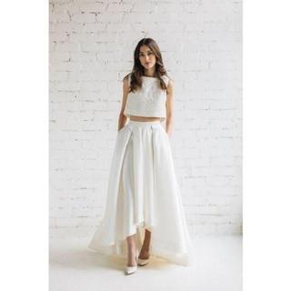 閉じるバック ウエディングドレス セパレート ツーピース ドレス