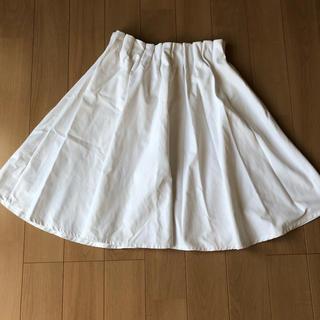 しまむら - 夏用 白い膝丈スカート