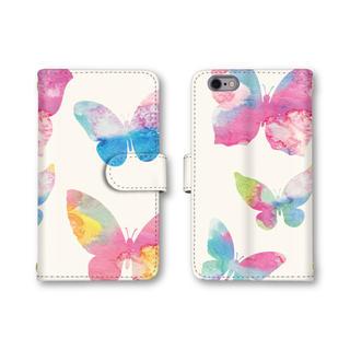 蝶々 可愛い スマホケース 手帳型ケース 選べるミラー 蝶 お洒落 送料無料(スマホケース)