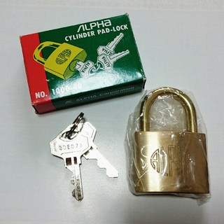 アルファ(alpha)のALPHA アルファ 南京錠 NO.1000-40(その他)