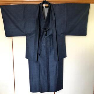 着物ウールアンサンブル男物  羽織紐付き(着物)