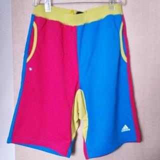 アディダス(adidas)のアディダス ハーフパンツ XO クレイジーカラー 新品 未使用 紙タグ付き (ショートパンツ)