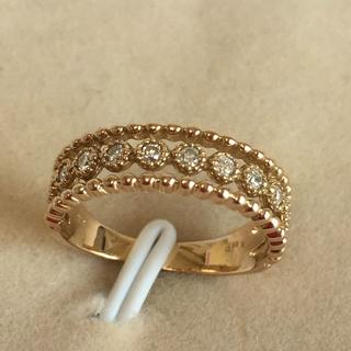 K18 ダイヤモンド 0.11ct デザインリング 指輪(リング(指輪))