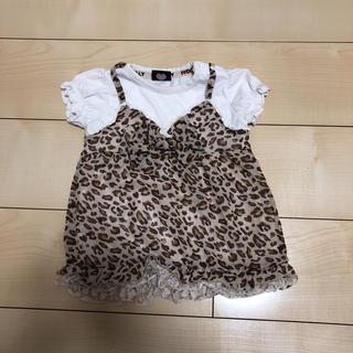 シマムラ(しまむら)のヒョウ柄 リボン ティーシャツ(Tシャツ/カットソー)