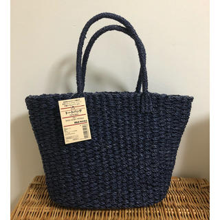 MUJI (無印良品) - 新品タグ付 MUJI 無印良品 アバカ素材 かごバッグ