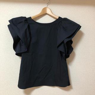 レストローズ(L'EST ROSE)の新品同様 L'EST ROSE 袖コンブラウス(シャツ/ブラウス(半袖/袖なし))