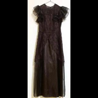 vintage#アンティーク ドレス チュール レース