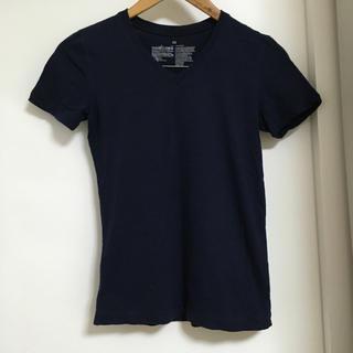 ムジルシリョウヒン(MUJI (無印良品))の無印良品 Vネック Tシャツ ネイビー MUJI(Tシャツ(半袖/袖なし))