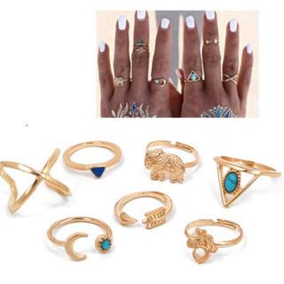 ターコイズ ボヘミアン リング 指輪 ZARA 原宿 韓国 オルチャン (リング(指輪))
