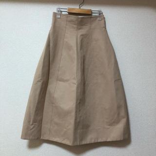 ルシェルブルー(LE CIEL BLEU)の美品 LE CIEL BLEU ハイウエストチノスカート(ひざ丈スカート)