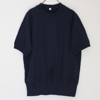MUJI (無印良品) - MUJI 無印良品 半袖 トレーナー SA ネイビー 濃紺 ユニセックス