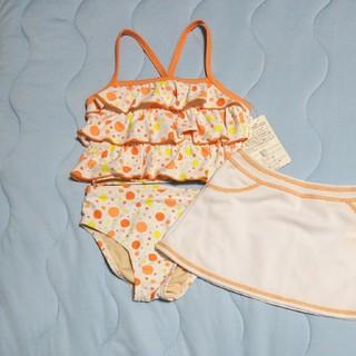 シマムラ(しまむら)の☆いの様専用☆女の子用 水着 120cm 3点セット オレンジ  しまむら(水着)