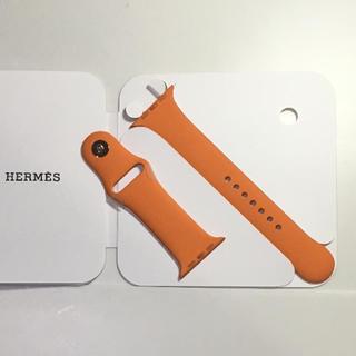 アップルウォッチ(Apple Watch)のエルメス 純正 オレンジ ラバーバンド Apple Watch 42mm(ラバーベルト)