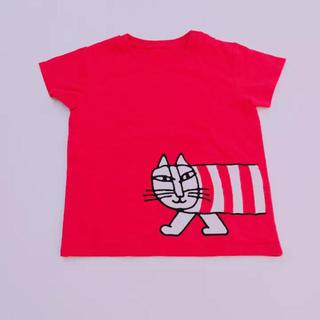 リサラーソン(Lisa Larson)のUNIQLO♢新品♢90♢リサラーソンTシャツ・レッド(Tシャツ/カットソー)