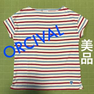 オーシバル(ORCIVAL)のオーシバル Vis 半袖 カットソー バスクシャツ ボーダー ピンク ブルー(カットソー(半袖/袖なし))