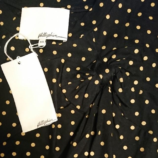 BARNEYS NEW YORK(バーニーズニューヨーク)の新品、未使用、3.1PHILLIP Lim ドット、 リボンTーシャツ レディースのトップス(Tシャツ(半袖/袖なし))の商品写真