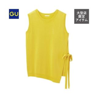 ジーユー(GU)のGU ジーユー サイドリボン セーター(ニット/セーター)