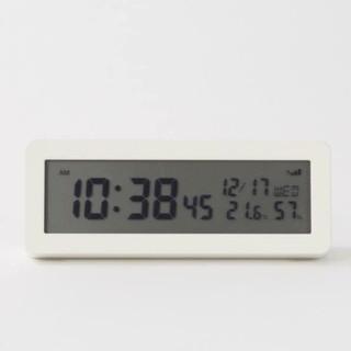 MUJI (無印良品) - ★新品未使用★  無印良品デジタル電波時計(大音量アラーム機能つき)/ホワイト