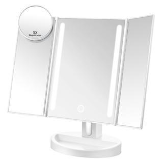 三面鏡 卓上鏡 LEDミラー