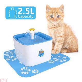 Iseebiz 自動給水器 ペット給水器 猫 犬 活性炭フィルター