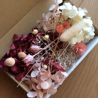 2 ピンク レッド系 花材(プリザーブドフラワー)