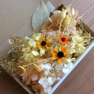 3 イエロー&オレンジ系 花材(プリザーブドフラワー)