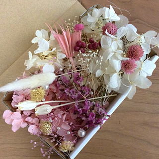 4 ピンク系 花材(プリザーブドフラワー)