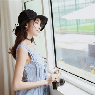 UVカット 帽子(クローシュ)ブラック(その他)
