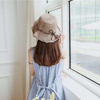 UVカット 帽子(クローシュ)モカ(その他)