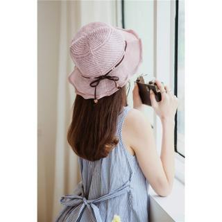 UVカット 帽子(クローシュ)ピンク(その他)