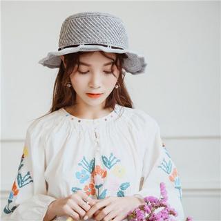UVカット 帽子(クローシュ)グレー(その他)
