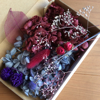 9 ブルー&レッド系 花材(プリザーブドフラワー)